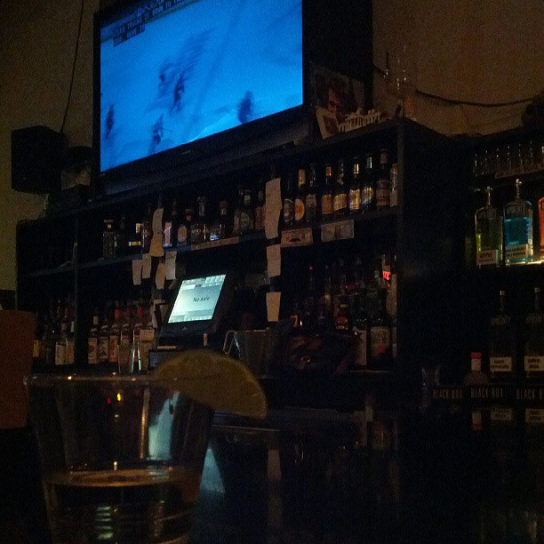 Free tequila while watching some hockey