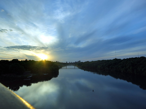 The view north from Lake Street Bridge by nullrend