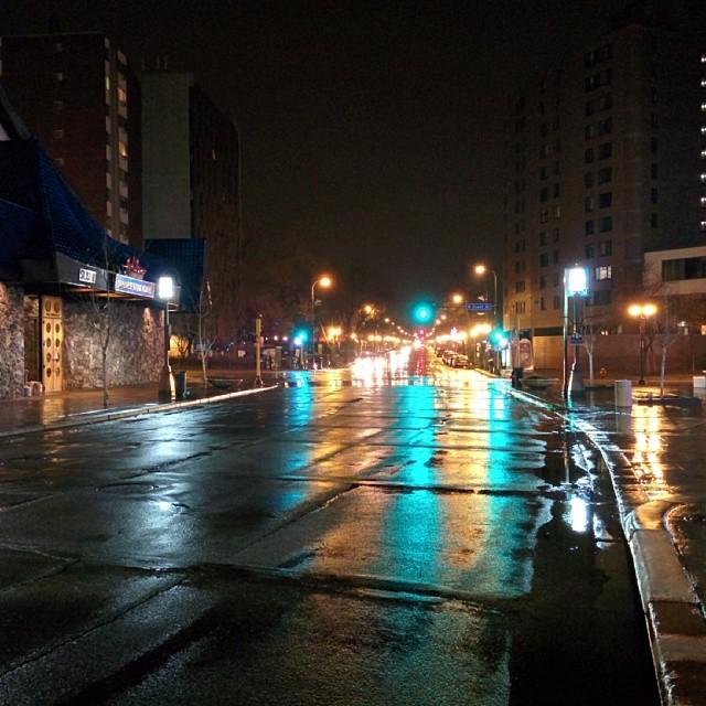 Night time bright lights