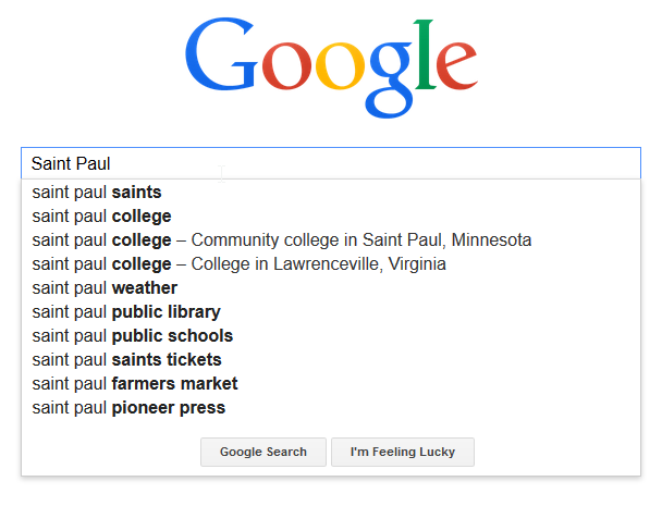 Saint Paul google search
