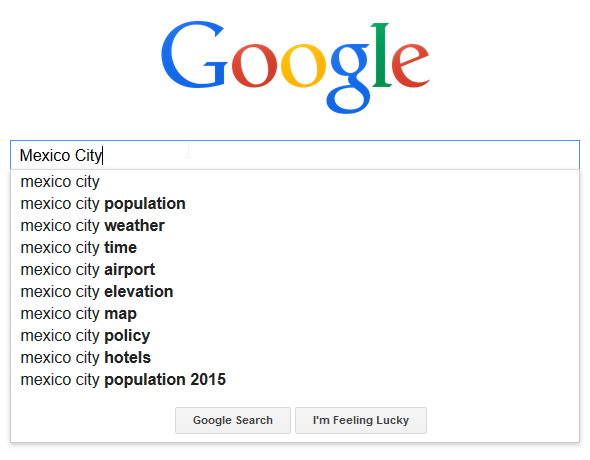 Mexico City google search