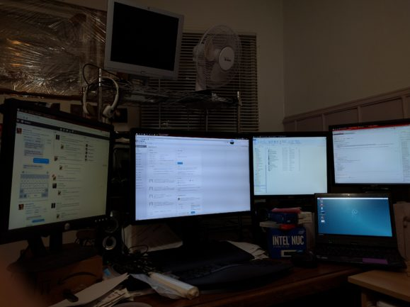 Lots of monitors
