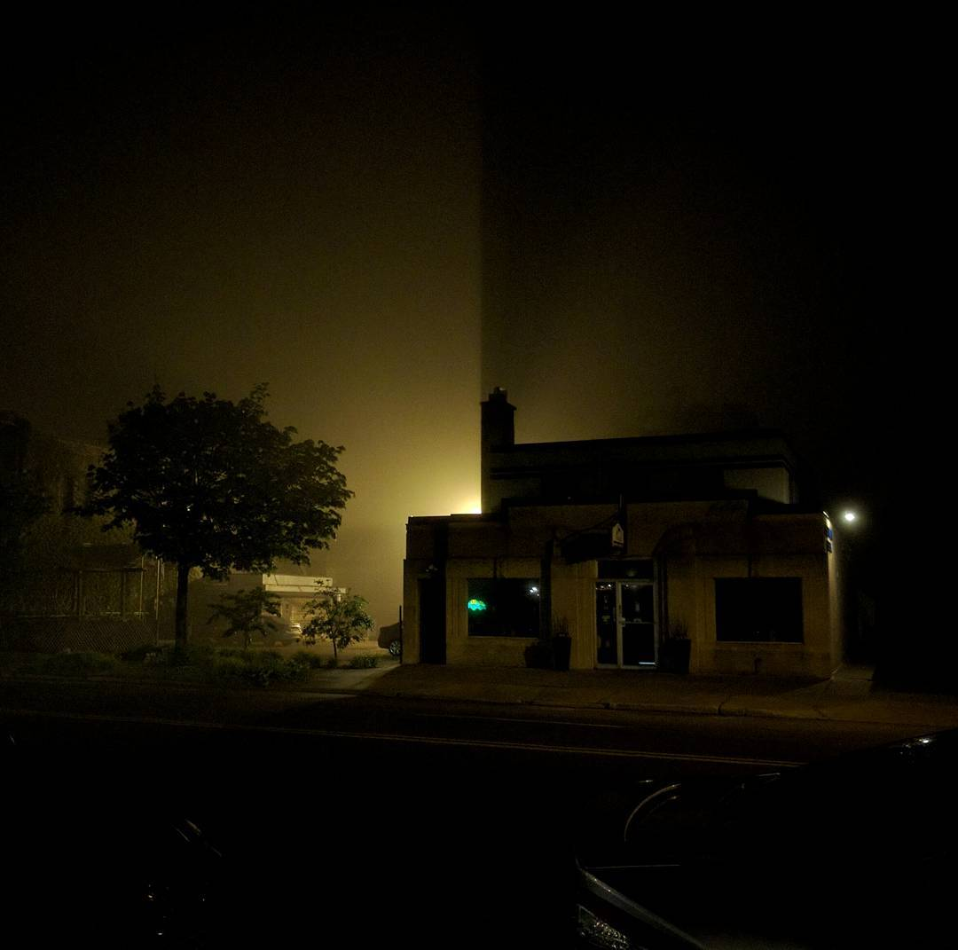 It was a foggy night...