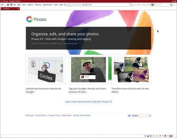Picasa homepage
