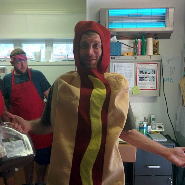 The chef is hotter than a hot dog