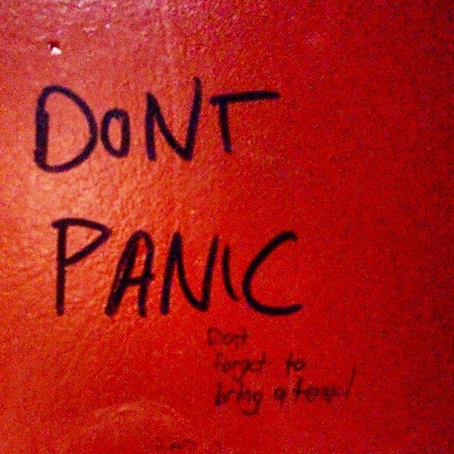 Best advice I've seen on a bathroom stall