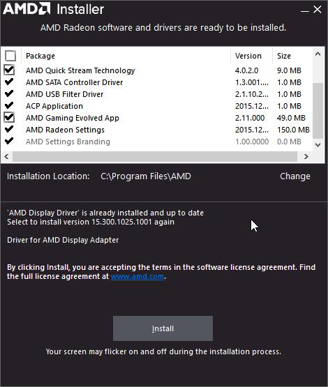 AMD Installer