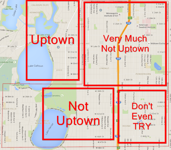 Google Maps of Minneapolis